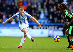 Alex Pritchard of Huddersfield Town shoots at goal - Mandatory by-line: Robbie Stephenson/JMP - 11/02/2018 - FOOTBALL - The John Smith's Stadium - Huddersfield, England - Huddersfield Town v Bournemouth - Premier League