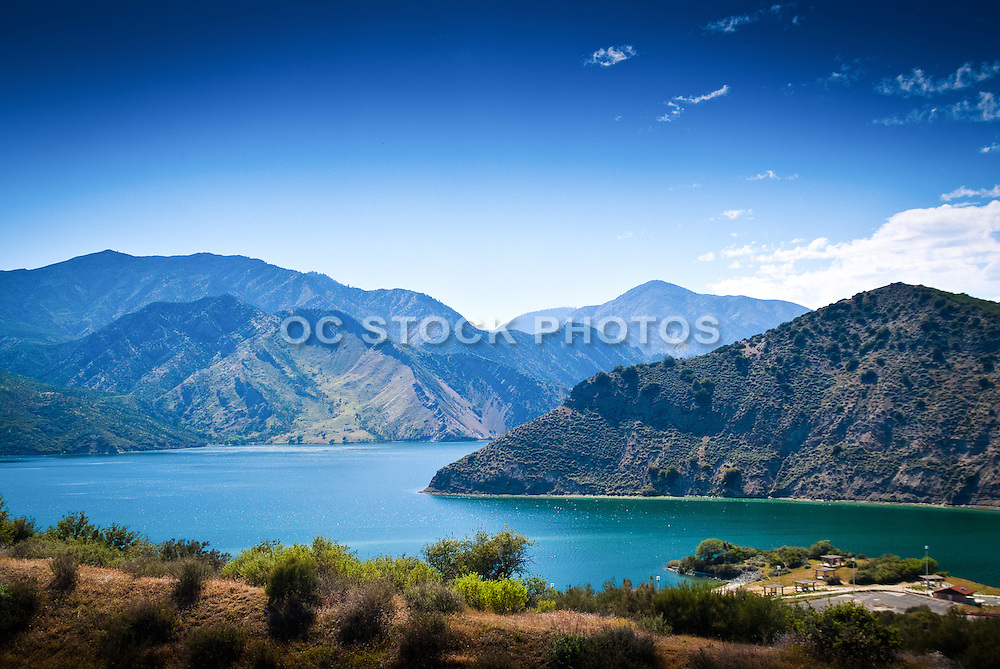 Pyramid Lake and the San Emigdio Mountains
