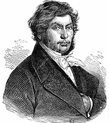 Jean Francois Champollion (1790-1832) French historian, linguist and Egyptologist. Engraving.