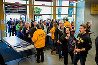 KELOWNA, CANADA - OCTOBER 2: Kraft Hockeyville fans arrive at Kal Tire Place on October 2, 2016 at Vernon, British Columbia, Canada.  (Photo by Marissa Baecker/Shoot the Breeze)  *** Local Caption ***