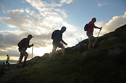 Early Risers,<br />Pilgrims make their way up Croagh Patrick on Reek Sunday.<br /> Photo Conor McKeown