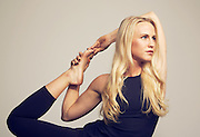 Macy Garcia, yoga instructor and fitness model. Photographed by advertising photographer Nathan Lindstrom