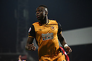 Ex Bee Moses Odubajo in action during the Sky Bet Championship match between Brentford and Hull City at Griffin Park, London, England on 3 November 2015. Photo by Michael Hulf.