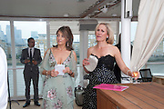 WENDY SMITH; SOPHIA RAYWORTH, Breast Cancer Haven 10th Anniversary Gala Event aboard Super Luxury Yacht Seabourn Sojourn. Off Canary Wharf. London. 5 June 2010. -DO NOT ARCHIVE-© Copyright Photograph by Dafydd Jones. 248 Clapham Rd. London SW9 0PZ. Tel 0207 820 0771. www.dafjones.com.