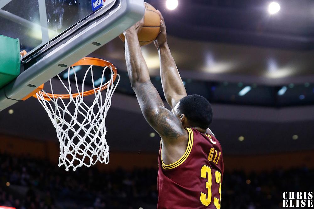 19 December 2012: Cleveland Cavaliers small forward Alonzo Gee (33) dunks the ball during the Boston Celtics 103-91 victory over the Cleveland Cavaliers at the TD Garden, Boston, Massachusetts, USA.