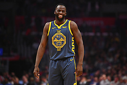 November 12, 2018 - Los Angeles, CA, U.S. - LOS ANGELES, CA - NOVEMBER 12: Golden State Warriors Forward Draymond Green (23) laughs after the official makes a call during a NBA game between the Golden State Warriors and the Los Angeles Clippers on November 12, 2018 at STAPLES Center in Los Angeles, CA. (Photo by Brian Rothmuller/Icon Sportswire) (Credit Image: © Brian Rothmuller/Icon SMI via ZUMA Press)