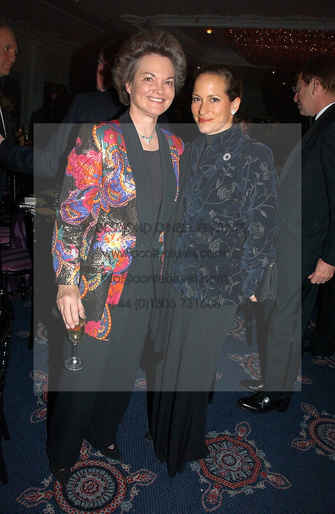 Left to right, the DOWAGER DUCHESS OF BEDFORD and PRINCESS ZAHRA AGA KHAN at the Cartier Racing Awards 2006 held at the Four Seasons Hotel, Hamilton Place, London on 15th November 2006.<br />