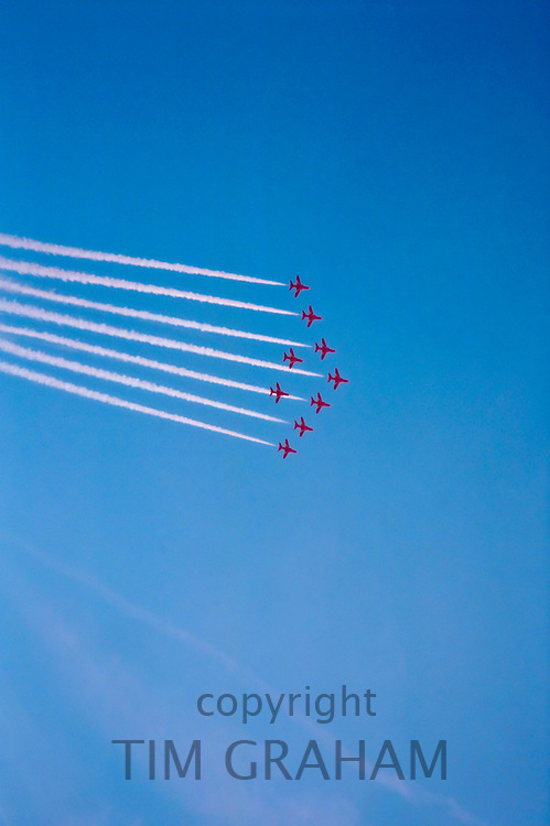 Red Arrows aerobatic flight, UK