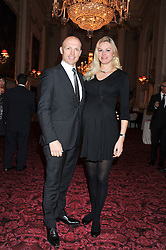 MATT DAWSON and his wife CAROLIN at the Audi Ballet Evening held at the Royal Opera House, Bow Street, Covent Garden, London on 22nd March 2012.