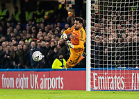 Football - 2018 / 2019 Emirates FA Cup - Fifth Round: Chelsea vs. Manchester United <br /> <br /> Sergio Romero (Manchester United) saves from the David Luiz (Chelsea FC)  free kick at Stamford Bridge<br /> <br /> COLORSPORT/DANIEL BEARHAM