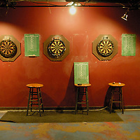 Idle dartboards at the now-defunct Dr. Dremo's Taphouse in Arlington, VA.