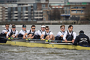 Putney, London, Pre Boat Race Fixture, <br /> <br /> Oxford University Boat Club {OUBC}v [Mandatory Credit; odd-stock.com]<br /> <br /> Oxford<br />  Brookes University over the River Thames, Championship Course Putney to Mortlake, Sunday 26/02/2017. [Mandatory Credit; Patrick White/Intersport-images]<br /> <br /> Oxford on Surrey, Crew, Bow William Warr, 2 Matthew O'Leary, 3 Oliver Cook, 4 Josh Bugajski, 5 Olivier Siegelaar, 6 Mike DiSanto, 7 James Cook, Stroke Vassilis Ragoussis, Cox Sam Collier.<br /> <br /> Oxford Brookes on Middlesex, Crew Bow Jamie Copus, 2 Robbie Massey, 3 Richard Hawkins, 4 Rory Gibbs, 5 Michael Glover, 6 Morgan Bolding, 7 Henry Swarbrick, Stroke Jamie Stanhope, Cox Harry Brightmore.