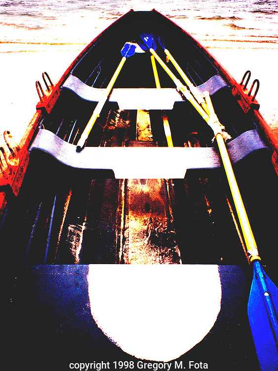 "AVALON LIFEBOAT - Ready for duty on Avalon,NJ beach. 06251998.(9""x12 ""-Available for purchase-call for pricing)"