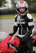 Kay Pratt portrait on a CBR600RR