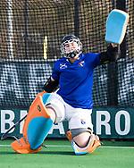 BLOEMENDAAL - keeper Diana Beemster (Bl'daal) .  hockey hoofdklasse dames Bloemendaal-Den Bosch (0-6) . COPYRIGHT KOEN SUYK