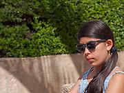 young preteen girl relaxing