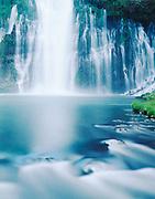 Burney Falls and Burney Creek rapids, McArthur-Burney Falls Memorial State Park, California