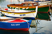 Colorful fishing boats, Sipanska Luka, Sipan Island, Dalmatian Coast, Croatia