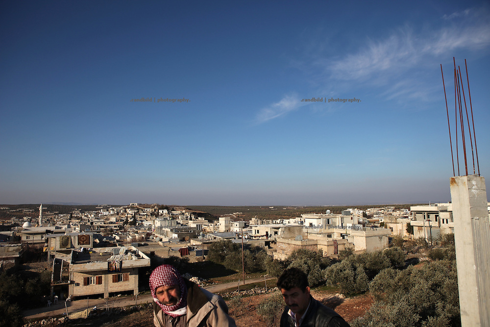 View down to the village of Kureen, Province of Idlib, Syria - one day before a massive attack by the syrian army.