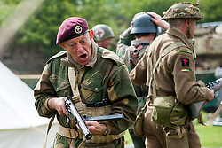 Members of the Northern World War II Association Take Part in Battle re-enactments and living History displays at Fort Paul <br /> British 6th Airborne<br /> Bank Holiday Monday May 5 2014<br /> Image © Paul David Drabble <br /> www.pauldaviddrabble.co.uk