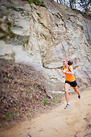 Zoe Romano running at quarry, Belle Isle Park