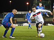 Dundee's Ryan Conroy and Inverness Caledonian Thistle's David Raven - Inverness Caledonian Thistle v Dundee, Clydesdale Bank Scottish Premier League at Tulloch Caledonian Stadium, Inverness.. - © David Young - www.davidyoungphoto.co.uk - email: davidyoungphoto@gmail.com