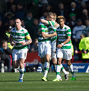 Celtic&rsquo;s Jozo Simunovic is congratulated by Stuart armstrong after scoring  - Dundee v Celtic in the Ladbrokes Scottish Premiership at Dens Park, Dundee.Photo: David Young<br /> <br />  - &copy; David Young - www.davidyoungphoto.co.uk - email: davidyoungphoto@gmail.com