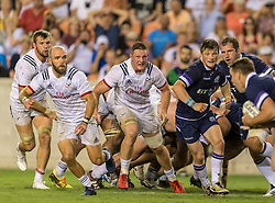 June 16, 2018 - Houston, Texas, US - USA team on defensive during the Emirates Summer Series 2018 match between USA Men's Team vs Scotland Men's Team at BBVA Compass Stadium, Houston, Texas (Credit Image: © Maria Lysaker via ZUMA Wire)
