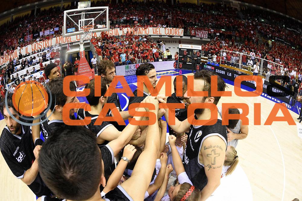 Segafredo Bologna<br /> Alma Trieste - Segafredo Bologna<br /> Campionato Basket LNP 2016/2017<br /> Playoff Finale Gara 3<br /> Trieste 19/06/2017<br /> Foto Ciamillo-Castoria