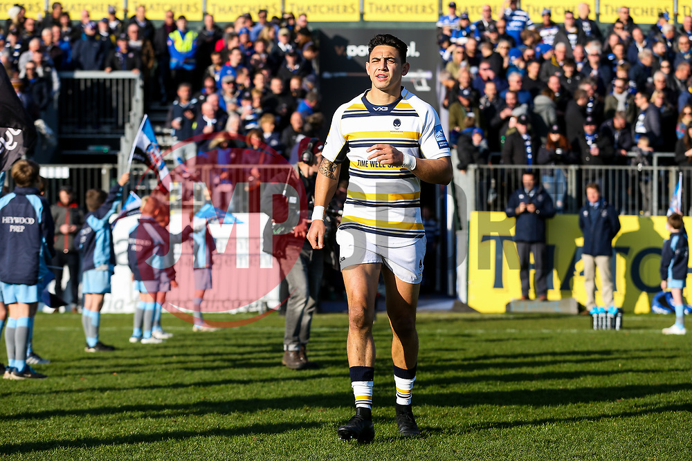 Bryce Heem of Worcester Warriors - Rogan/JMP - 17/11/2018 - RUGBY UNION - The Recreation Ground - Bath, England - Bath Rugby v Worcester Warriors - Gallagher Premiership.
