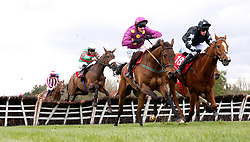 Magic Of Light (second left) ridden by jockey Ryan Treacy jumps the last on the way to winning the Martinstown Opportunity Series Final Handicap Hurdle during day two of the Punchestown Festival in Naas, Co. Kildare.