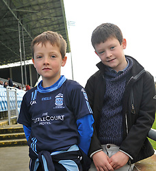 Cousin's Dan Lambert and Jack Kennedy support Westport at yesterday's minor final<br /> Pic Conor McKeown