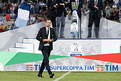 August 13, 2017 - Rome, Italy - Massimiliano Allegri manager of Juventus looks dejected after the match during the Italian Supercup Final match between Juventus and Lazio at Stadio Olimpico, Rome, Italy on 13 August 2017. (Credit Image: © Giuseppe Maffia/NurPhoto via ZUMA Press)