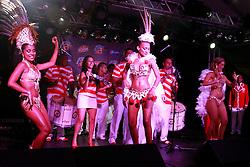 Apresentação da escola de samba Consulado de Florianópolis no camarote do Planeta Atlântida 2013/SC, que acontece nos dias 11 e 12 de janeiro no Sapiens Parque, em Florianópolis. FOTO: Itamar Aguiar/Preview.com