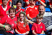 Wales fans ahead of the UEFA European 2020 Qualifier match between Wales and Slovakia at the Cardiff City Stadium, Cardiff, Wales on 24 March 2019.