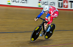 © Licensed to London News Pictures. 19/02/2011. Ben Swift of Team Great Britain competes in the UCI Track Cycling World Cup in Manchester this evening (19/02/2011). Photo credit should read: Reuben Tabner/LNP