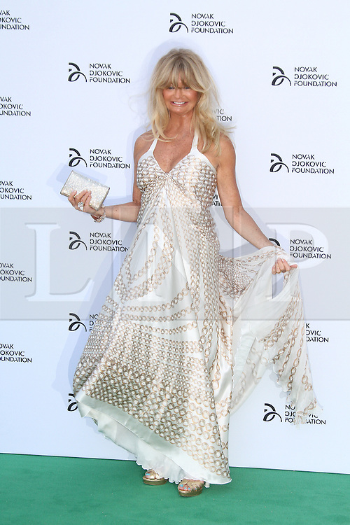 © Licensed to London News Pictures. Goldie Hawn at the Novak Djokovic Foundation London gala dinner, The Roundhouse, London UK, 08 July 2013. Photo credit: Richard Goldschmidt/LNP