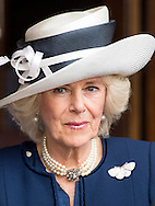 Camilla, Duchess of Cornwall and Prince Charles, Prince of Wales attend a Service at St Martin-in-the-Fields for VC & GC Association on London