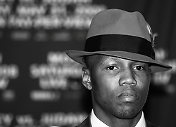 "March 25, 2008; New York, NY, USA;  Zab Judah speaks at the press conference announcing his May 31, 2008 welterweight fight against ""Sugar"" Shane Mosley.  The two will meet at Mandalay Bay in Las Vegas, NV."