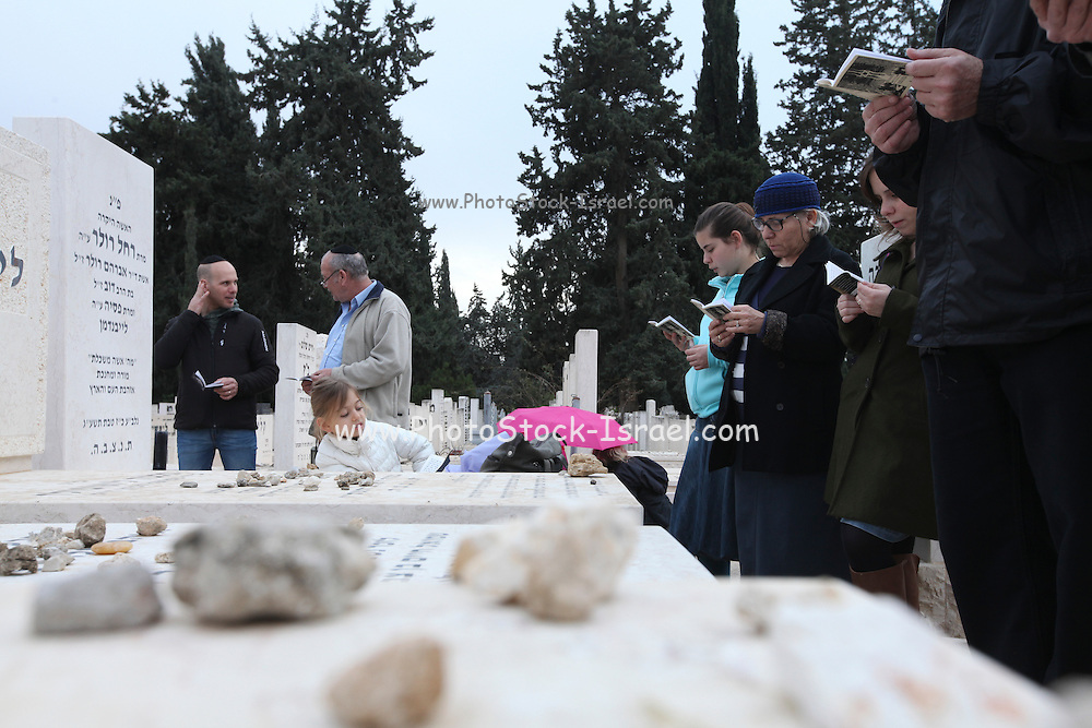 family members and friends of the deceased at the anual Azcara (bereavement) in Kiryat shaul cemetery in Tel Aviv