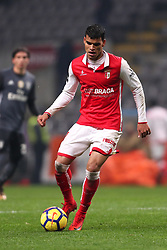 January 13, 2018 - Braga, Braga, Portugal - Braga's Brazilian midfielder Danilo Silva in action during the Premier League 2017/18 match between SC Braga and SL Benfica, at Municipal de Braga Stadium in Braga on January 13, 2018. (Credit Image: © Dpi/NurPhoto via ZUMA Press)