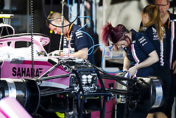 March 23, 2018 - Melbourne, Victoria, Australia - Force India VJM11, girl mechanic at work 2018 Formula 1 championship at Melbourne, Australian Grand Prix, from March 22 To 25 - Photo  Motorsports: FIA Formula One World Championship 2018, Melbourne, Victoria : Motorsports: Formula 1 2018 Rolex  Australian Grand Prix, (Credit Image: © Hoch Zwei via ZUMA Wire)