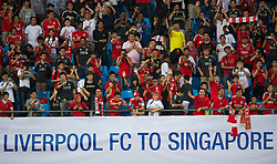 SINGAPORE, SINGAPORE - Sunday, July 17, 2011: Liverpool supporters during an exhibition training session at the Bishan Stadium in Singapore on day seven of the club's preseason Asia Tour. (Photo by David Rawcliffe/Propaganda)
