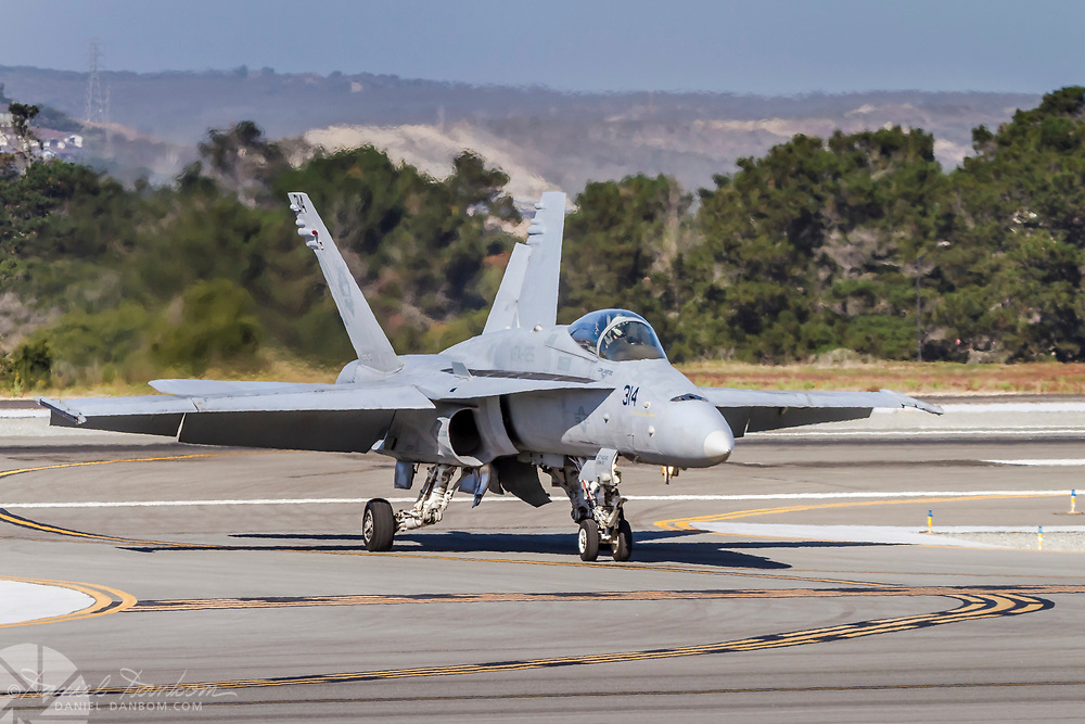 F-18 entering the taxi-way, MRY, Monterey, California