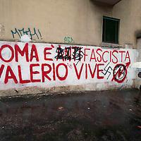 Svastiche  su  scritte Valerio Verbano