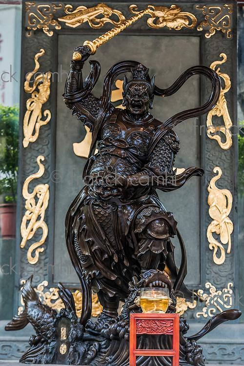 warrior statue Sik Sik Yuen Wong Tai Sin Temple Kowloon in Hong Kong