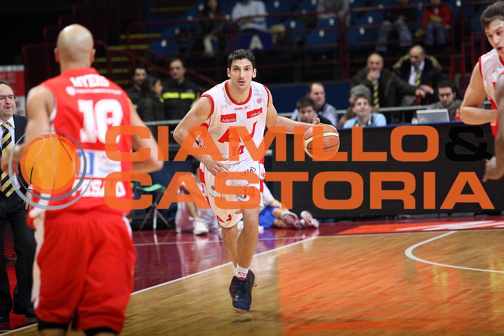 DESCRIZIONE : Milano Lega A1 2007-08 Armani Jeans Milano Scavolini Spar Pesaro<br /> GIOCATORE : Dusan Vukcevic<br /> SQUADRA : Armani Jeans Milano<br /> EVENTO : Campionato Lega A1 2007-2008<br /> GARA : Armani Jeans Milano Scavolini Spar Pesaro<br /> DATA : 27/01/2008<br /> CATEGORIA : Palleggio<br /> SPORT : Pallacanestro<br /> AUTORE : Agenzia Ciamillo-Castoria/S.Ceretti