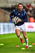 Leinster's Dave Kearney during the pre match warm up<br /> <br /> Photographer Craig Thomas/Replay Images<br /> <br /> Guinness PRO14 Round 18 - Ospreys v Leinster - Saturday 24th March 2018 - Liberty Stadium - Swansea<br /> <br /> World Copyright © Replay Images . All rights reserved. info@replayimages.co.uk - http://replayimages.co.uk