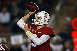 PALO ALTO, CA - NOVEMBER 10:  Quarterback K.J. Costello #3 of the Stanford Cardinal passes against the Oregon State Beavers during the first quarter at Stanford Stadium on November 10, 2018 in Palo Alto, California. (Photo by Jason O. Watson/Getty Images) *** Local Caption *** K.J. Costello