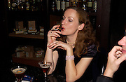 Gertrude Thoma, Opening of Floridita, Wardour St. London. 21 October 2004. ONE TIME USE ONLY - DO NOT ARCHIVE  © Copyright Photograph by Dafydd Jones 66 Stockwell Park Rd. London SW9 0DA Tel 020 7733 0108 www.dafjones.com